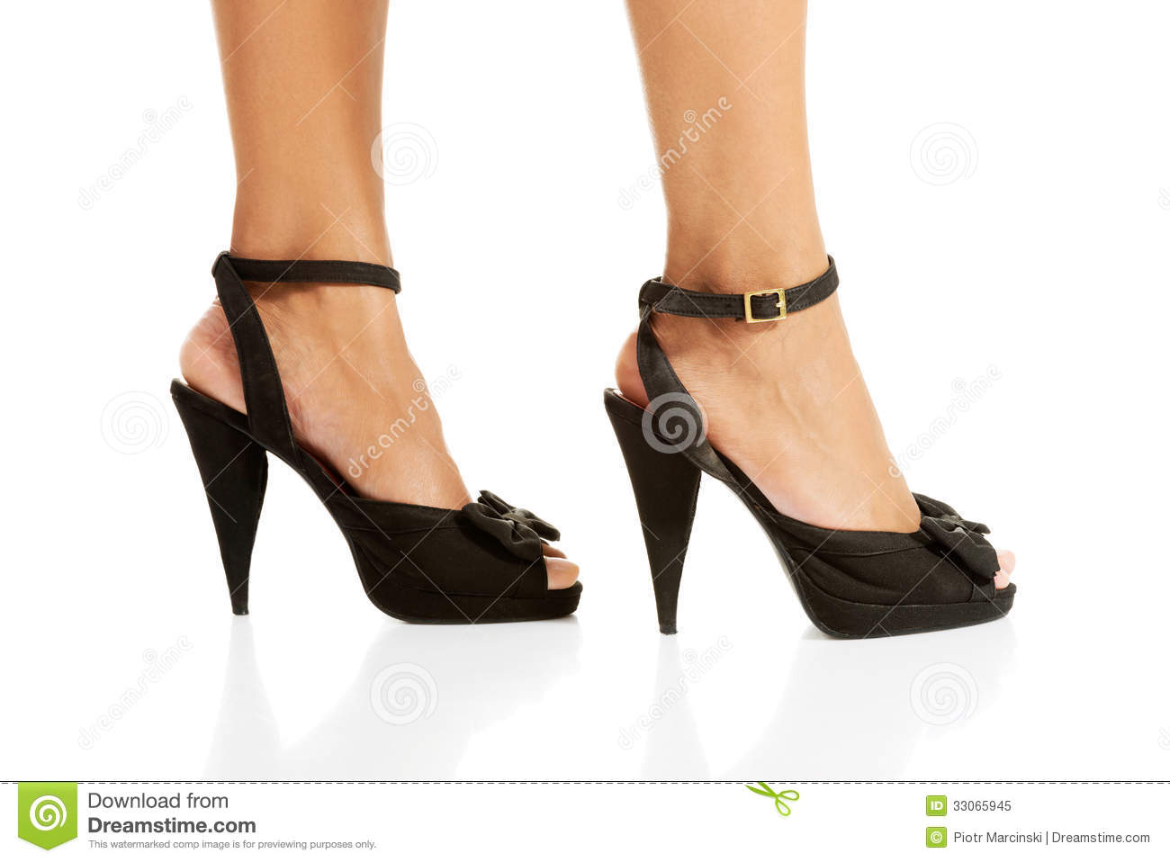 s legs and high heel shoes royalty free stock photo
