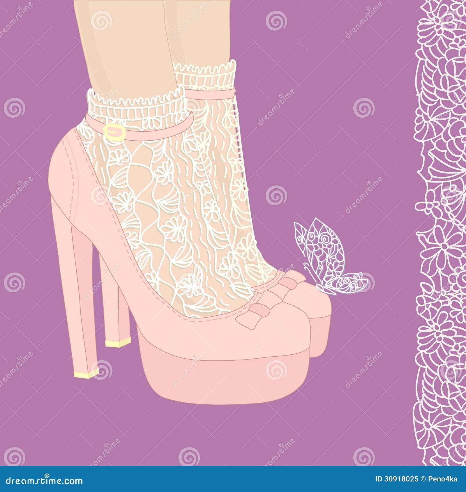 High Heel Shoes In Pink