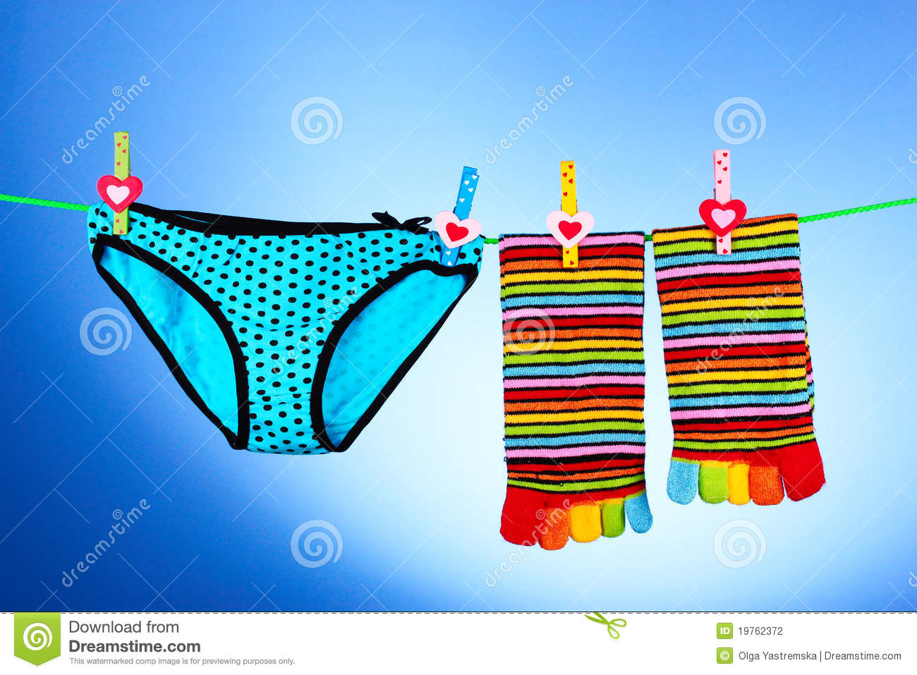 7836be1005d2 Woman's panties hanging stock photo. Image of lingerie - 19762372