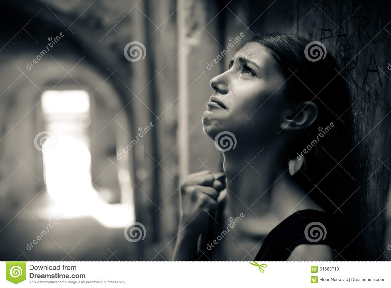 Woman with sad face crying sad expressionsad emotiondespairsadness