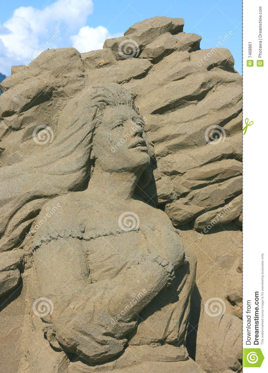 Woman Of Sand Editorial Photo - Image: 7468861