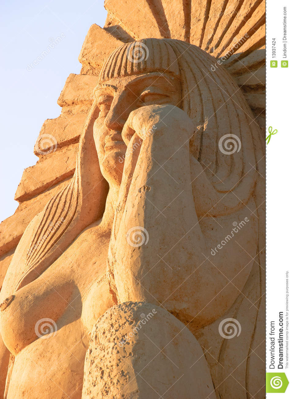 Woman Sand Statue Editorial Stock Image - Image: 13937424