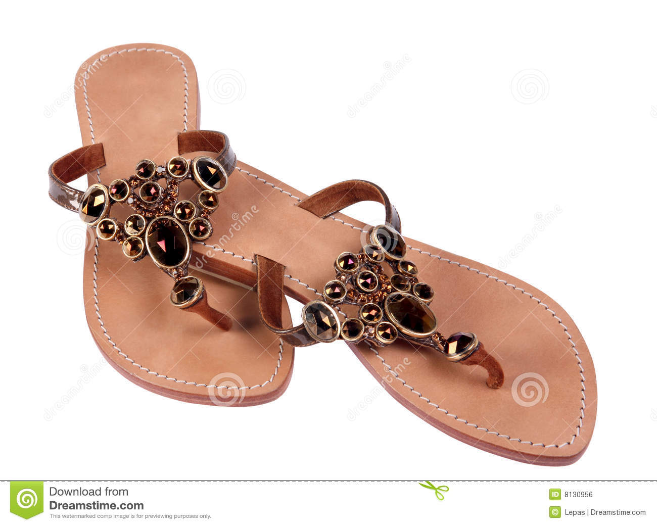 Download Woman sandal stock photo. Image of summer, flop, image - 8130956