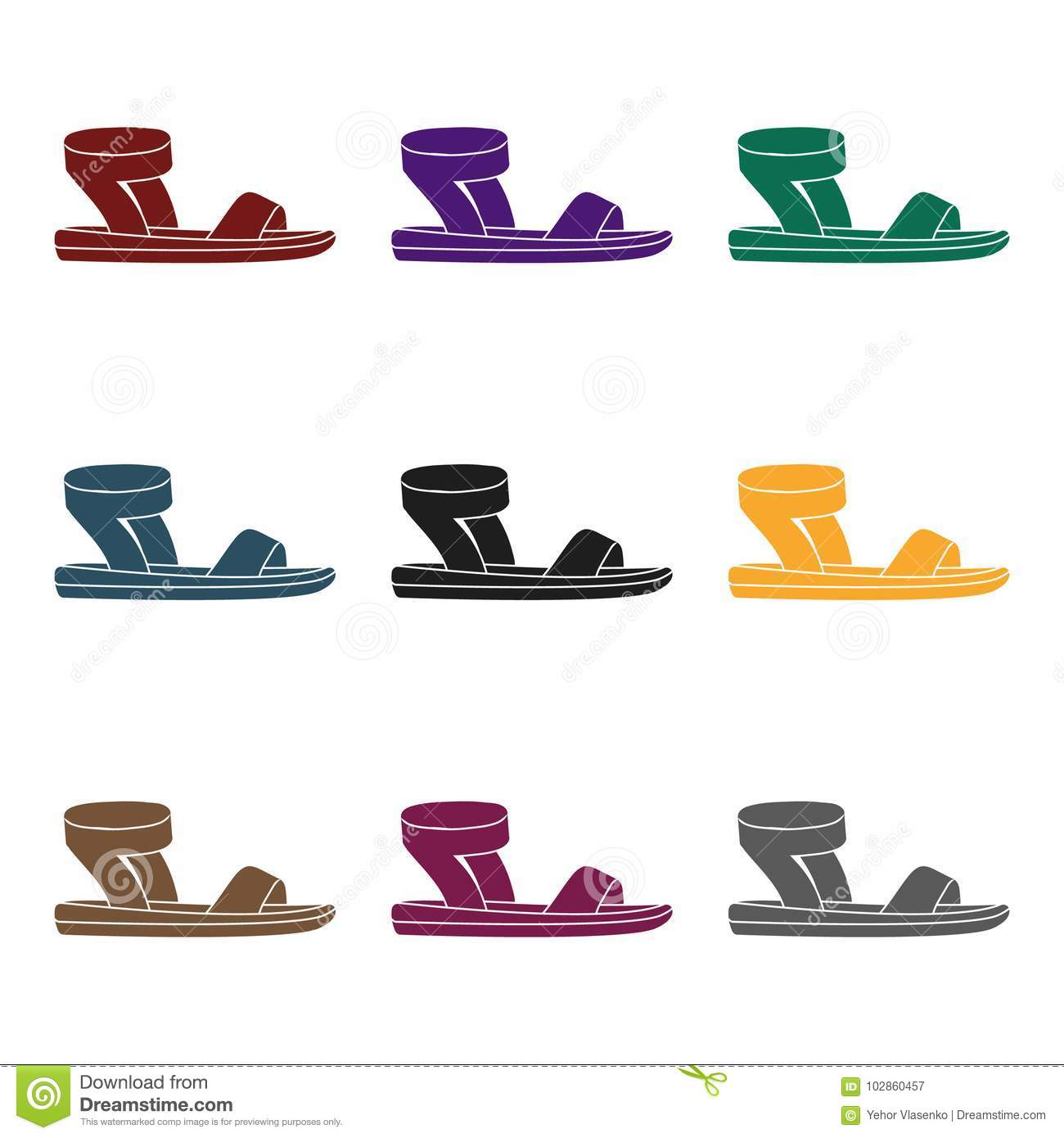 Woman Sandals Icon In Black Style Isolated On White Background