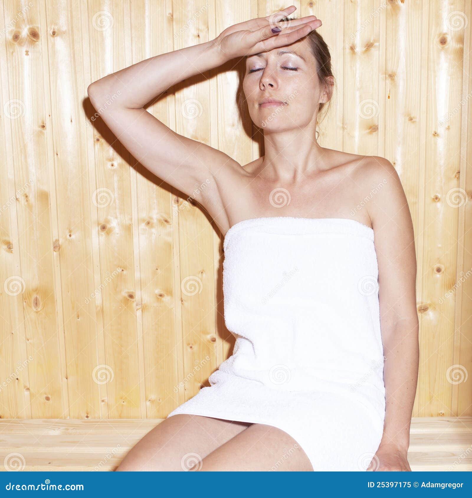 Woman In Sauna Royalty Free Stock Photo Image 25397175