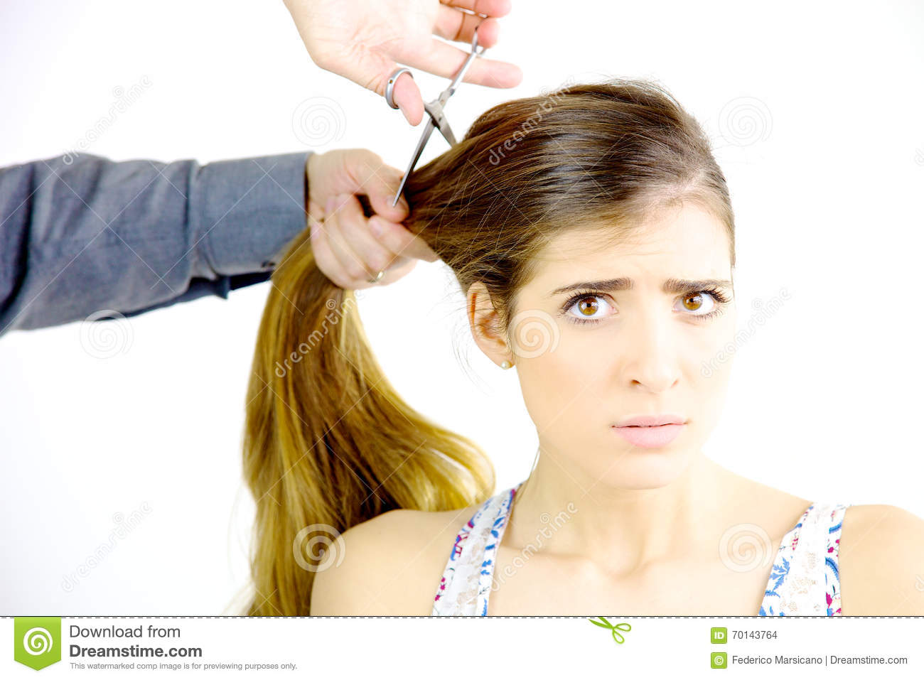 Superb Woman Scared Haircut Stock Photos Images Pictures 106 Images Short Hairstyles For Black Women Fulllsitofus