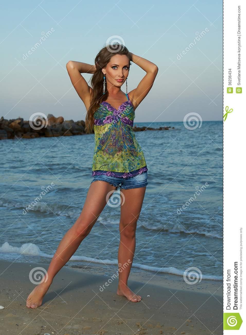 woman of the sea stock photo image of beach hair summer