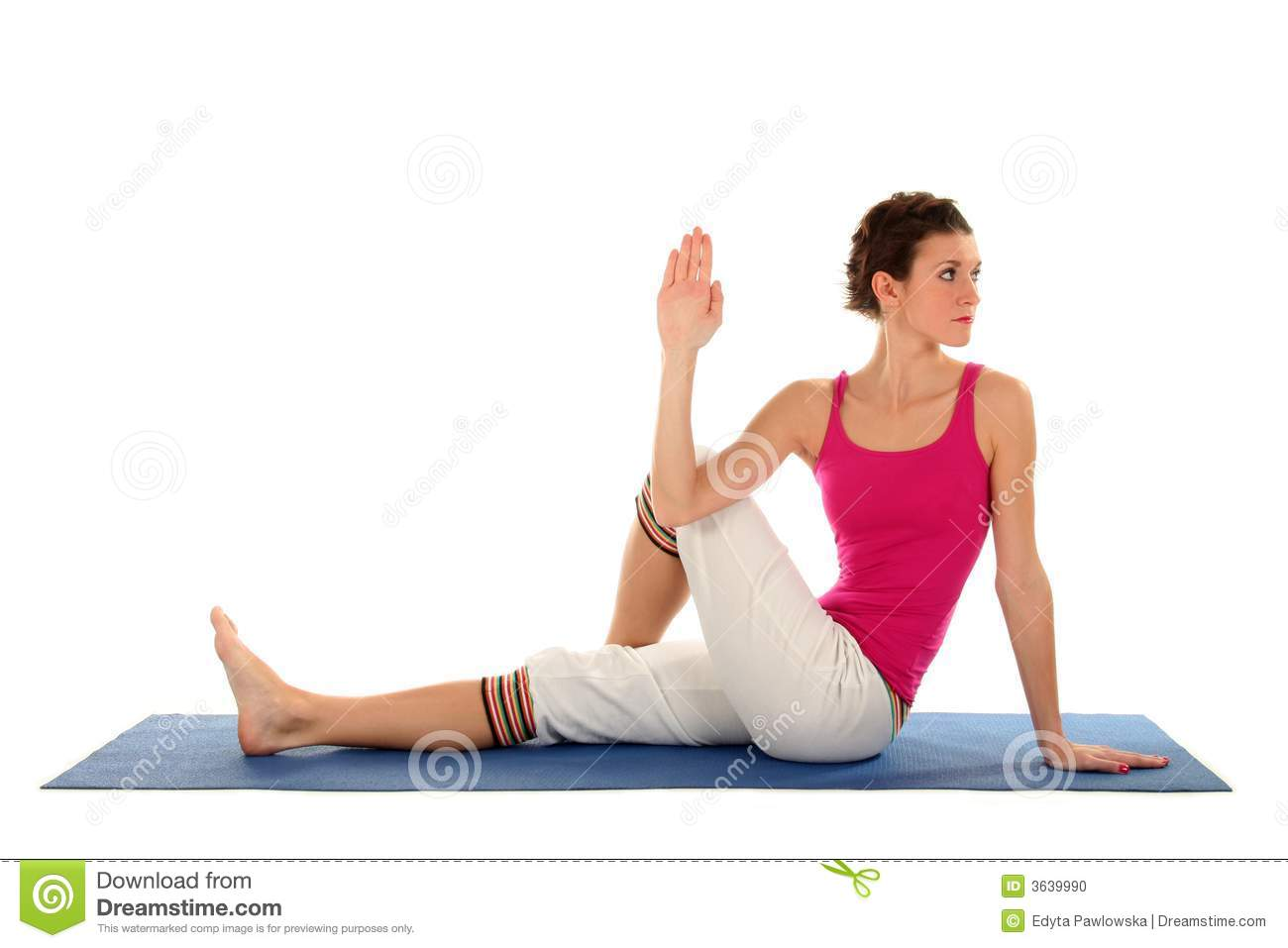 Woman Seated In Yoga Pose Stock Photo Image 3639990