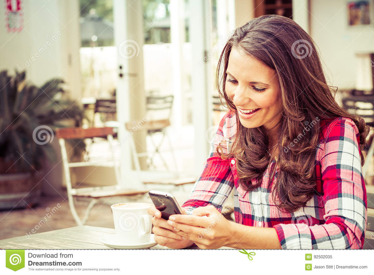 Woman Sending Text Message