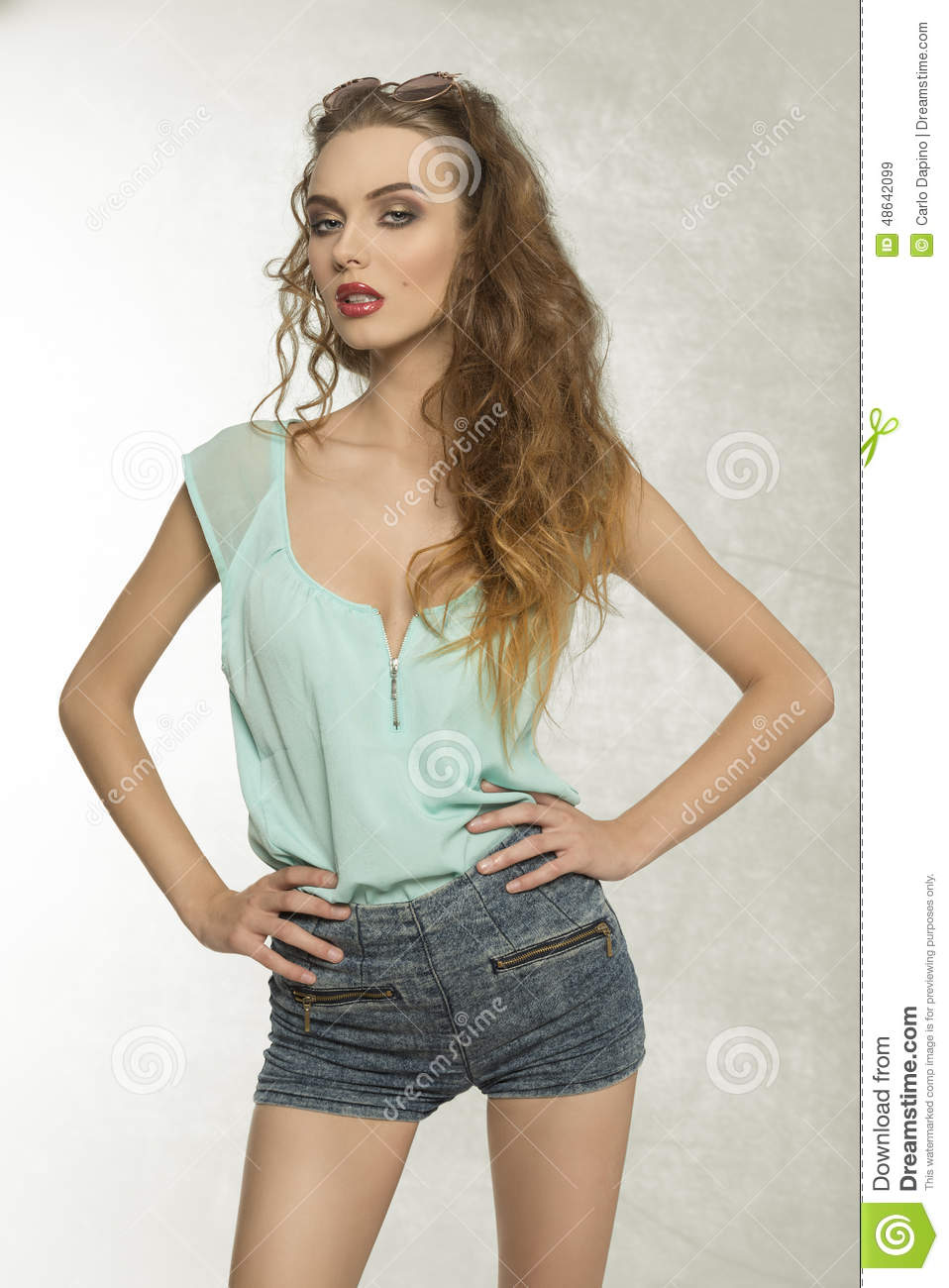 Nice Woman In Sexy Clothes Stock Photography
