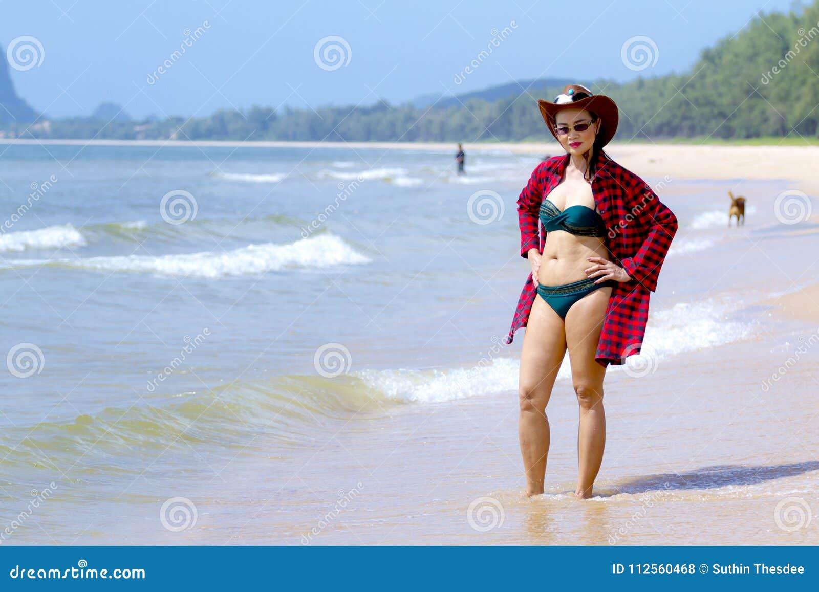 1acc01b0441 Woman shape and bikini daylight on beach at Bang Beot beach, Chumphon  Province Thailand. More similar stock images