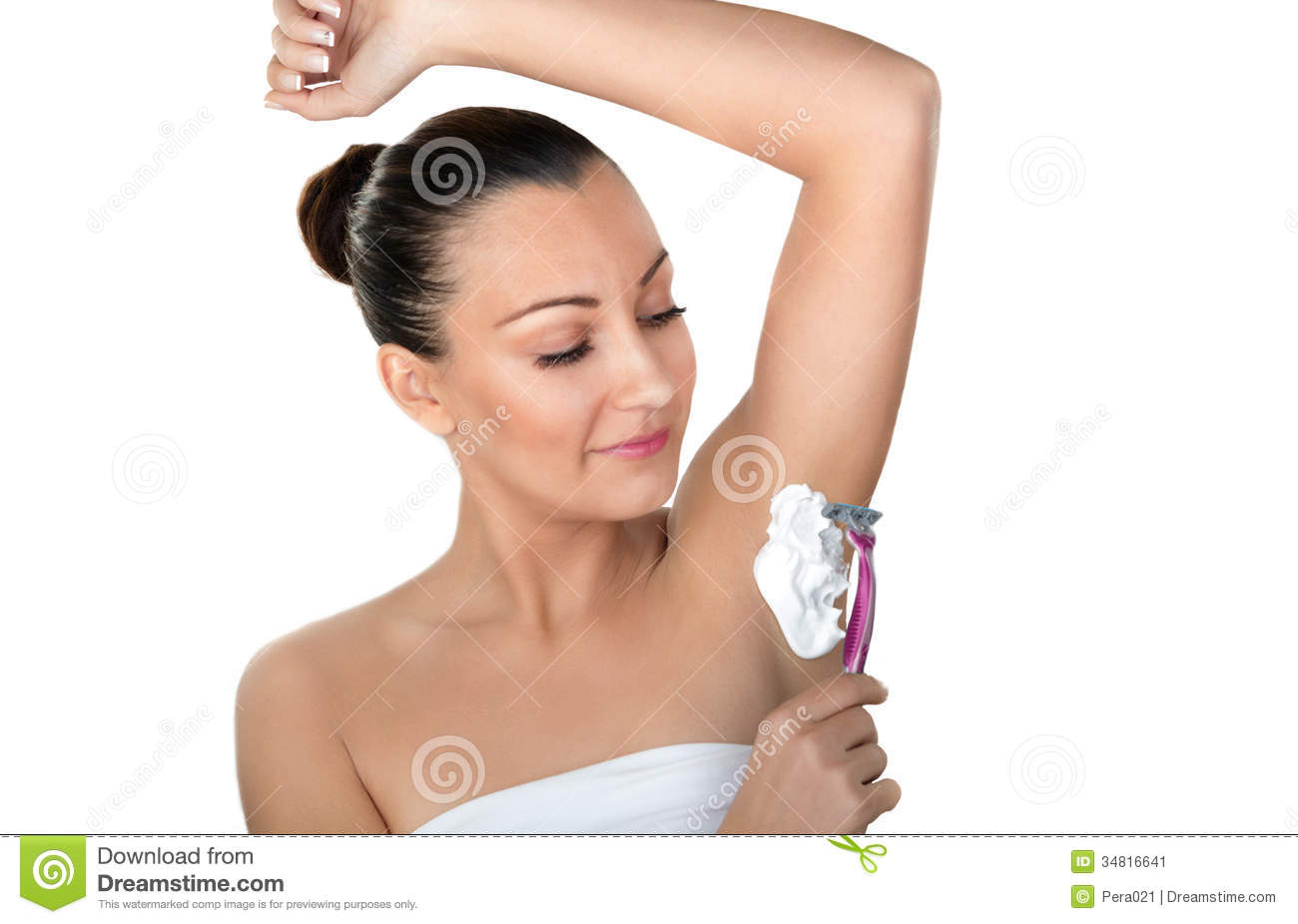 Female shaved armpits