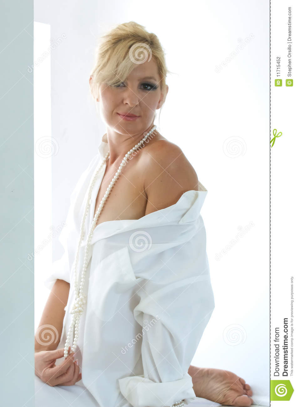 Beautiful Sexy Woman In Mens Shirt Royalty Free Stock Images  Image 9546719