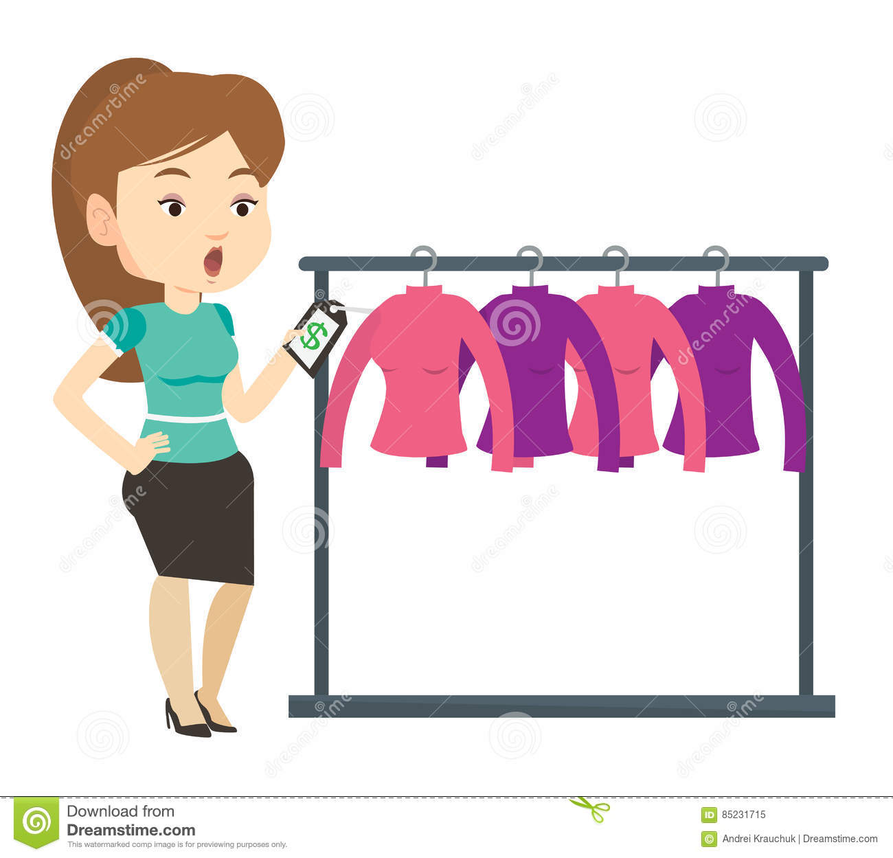 Tag clothing store