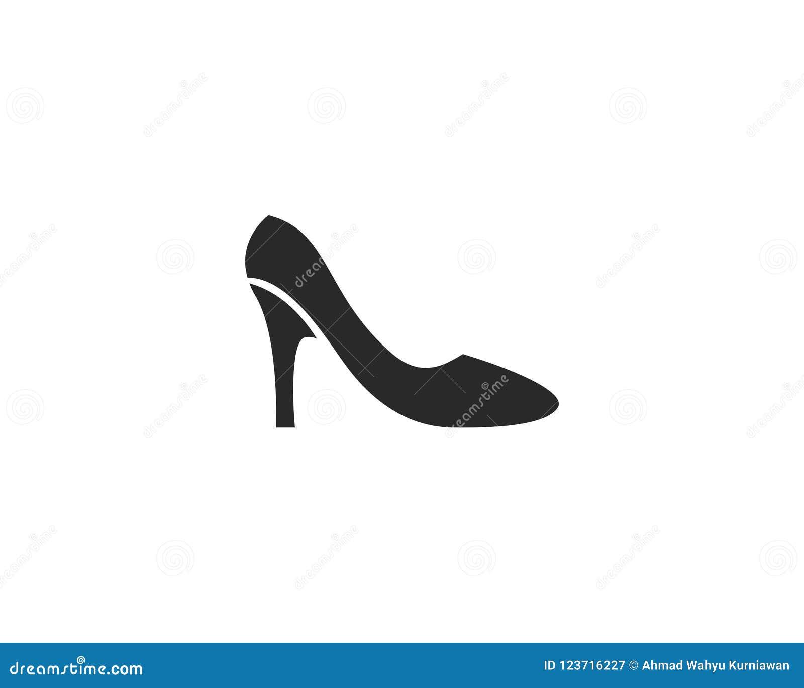 high heel logo vector template stock vector illustration of beauty