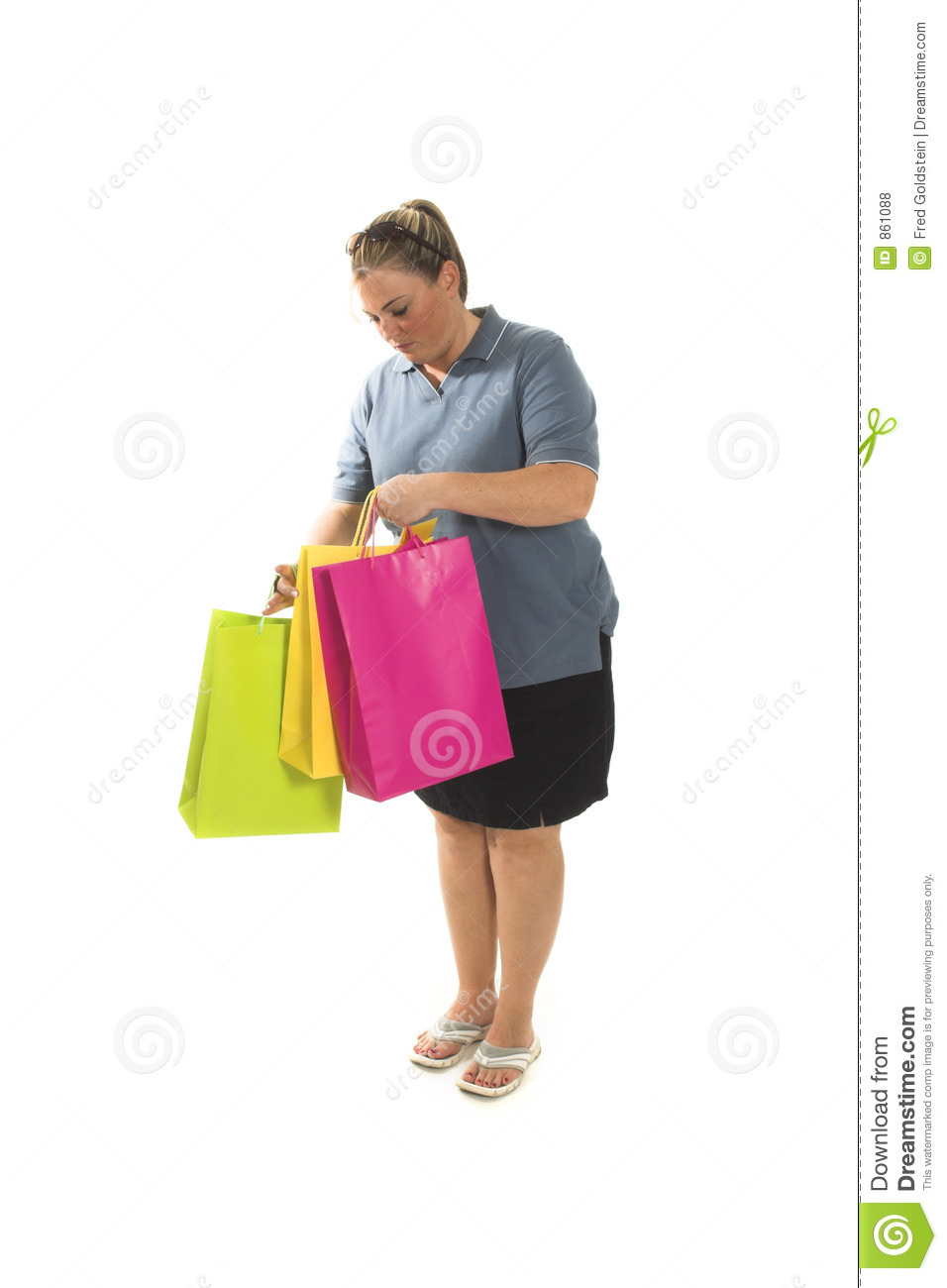 Woman With Shopping Bags Royalty Free Stock Photos - Image: 861088