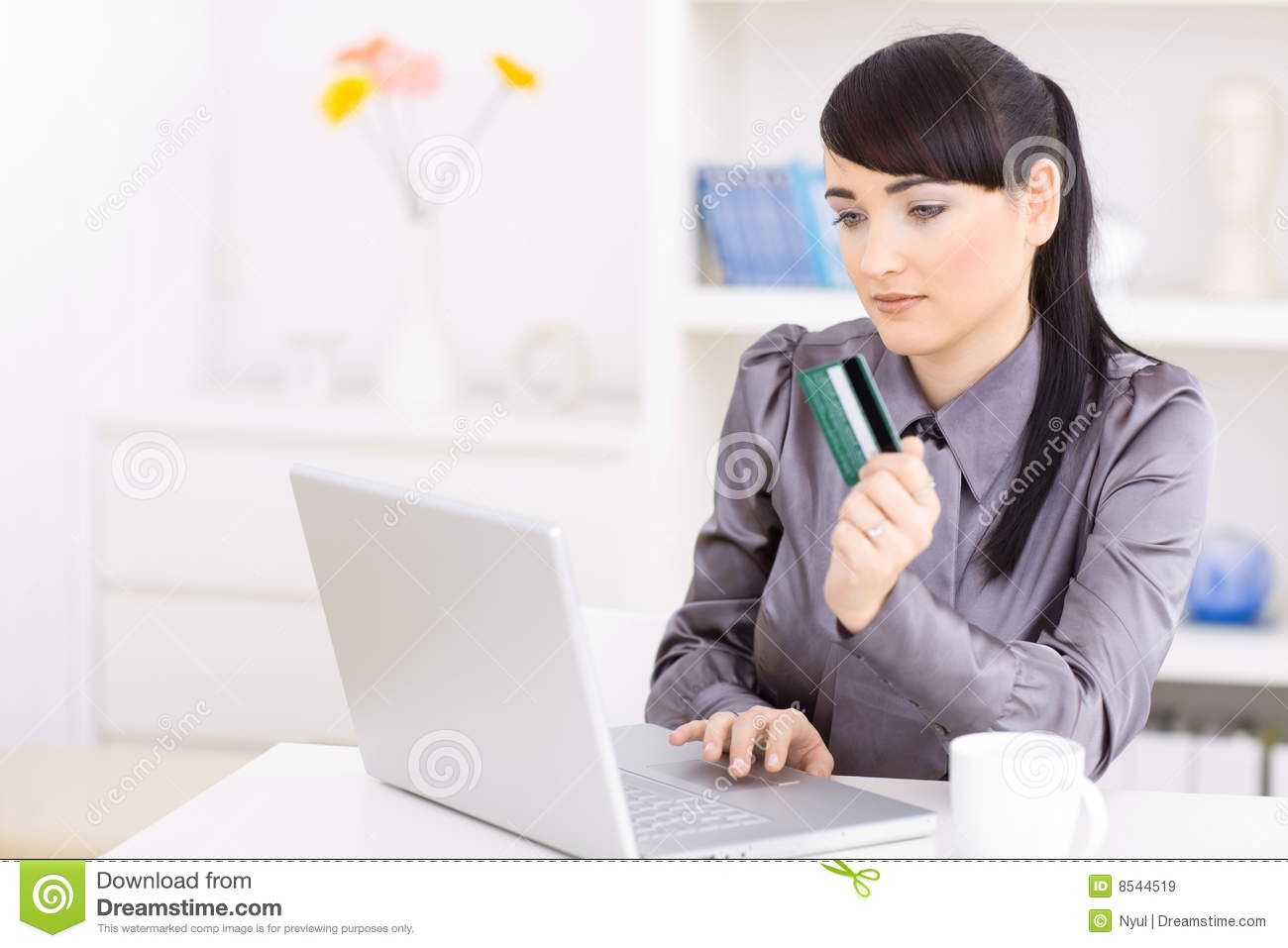 Woman Shopping Online Royalty Free Stock Images - Image ...
