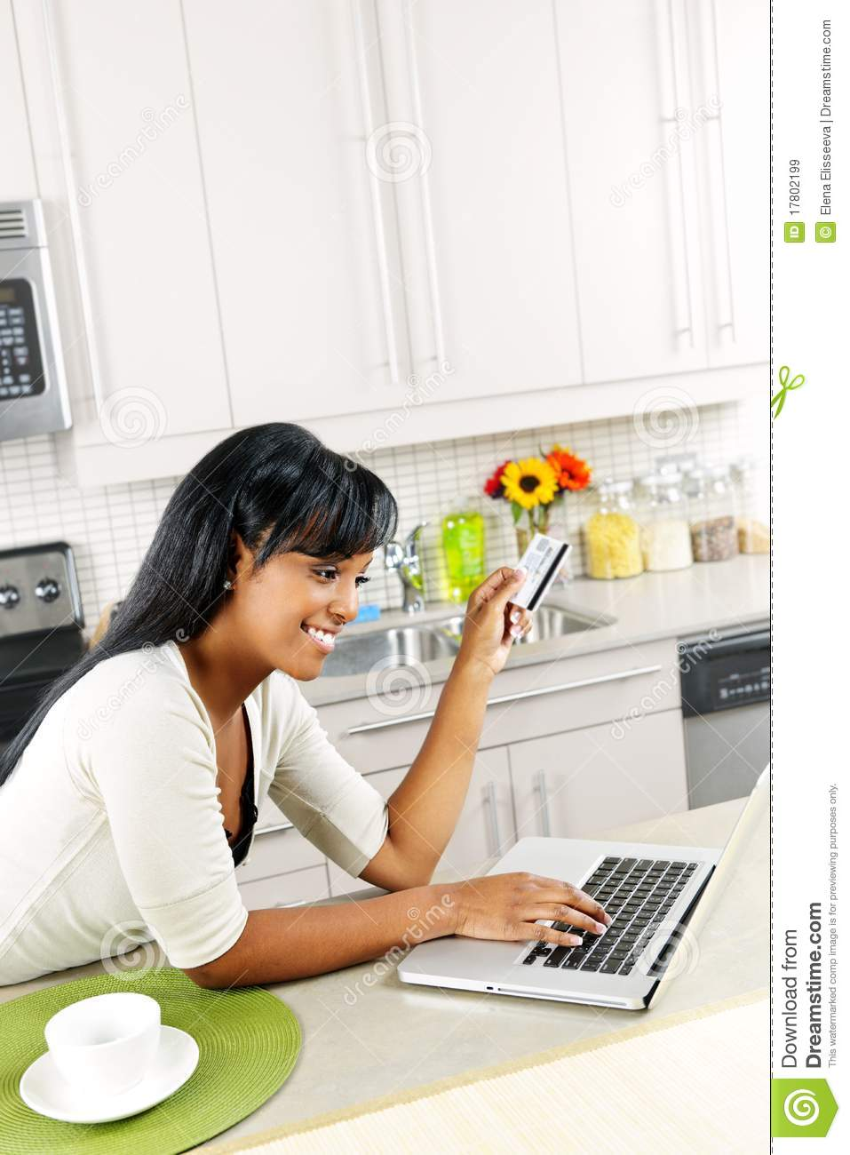Woman Shopping Online At Home Royalty Free Stock Images ...