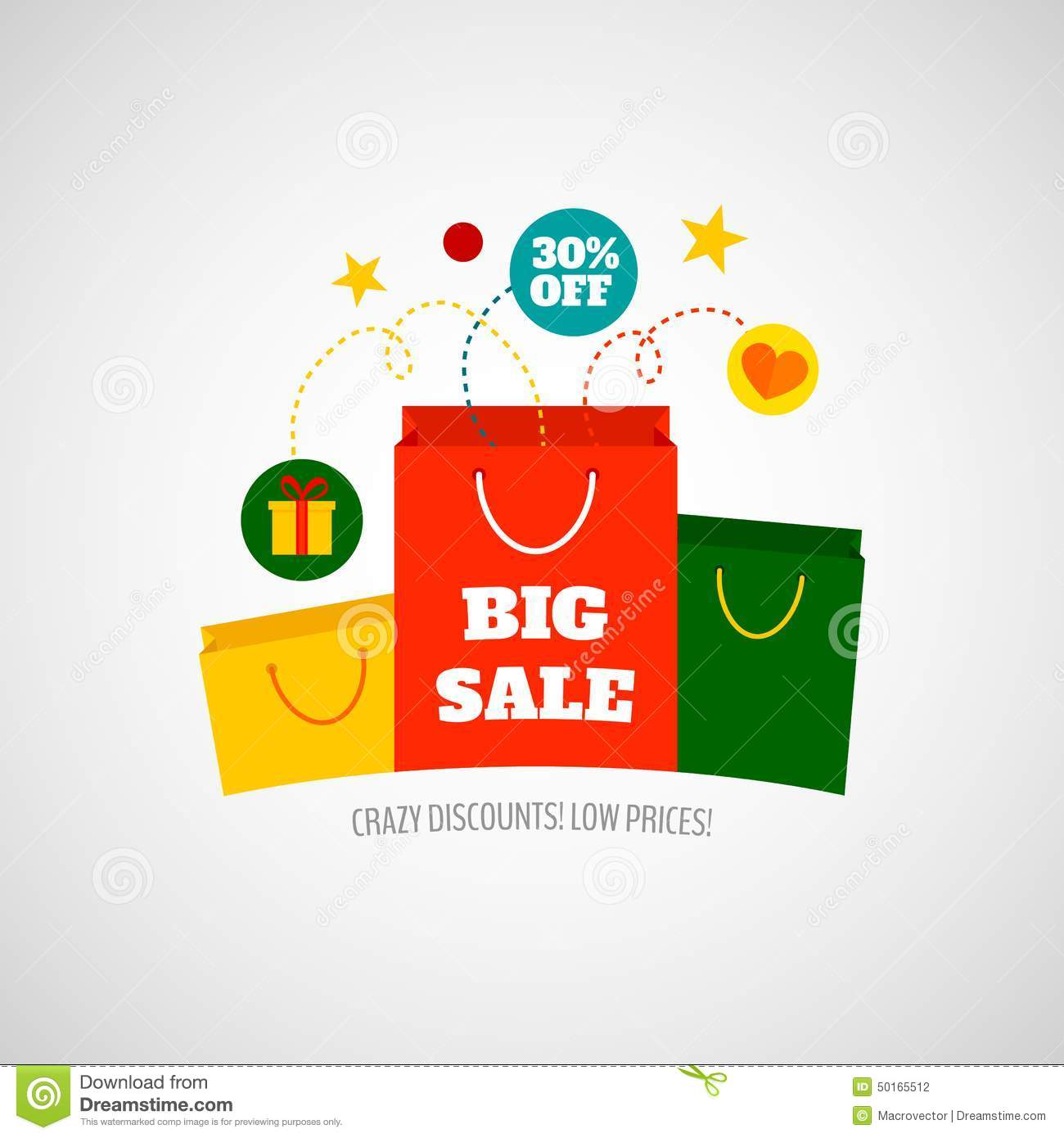 Woman Shopping Sale Icon Flat Stock Vector