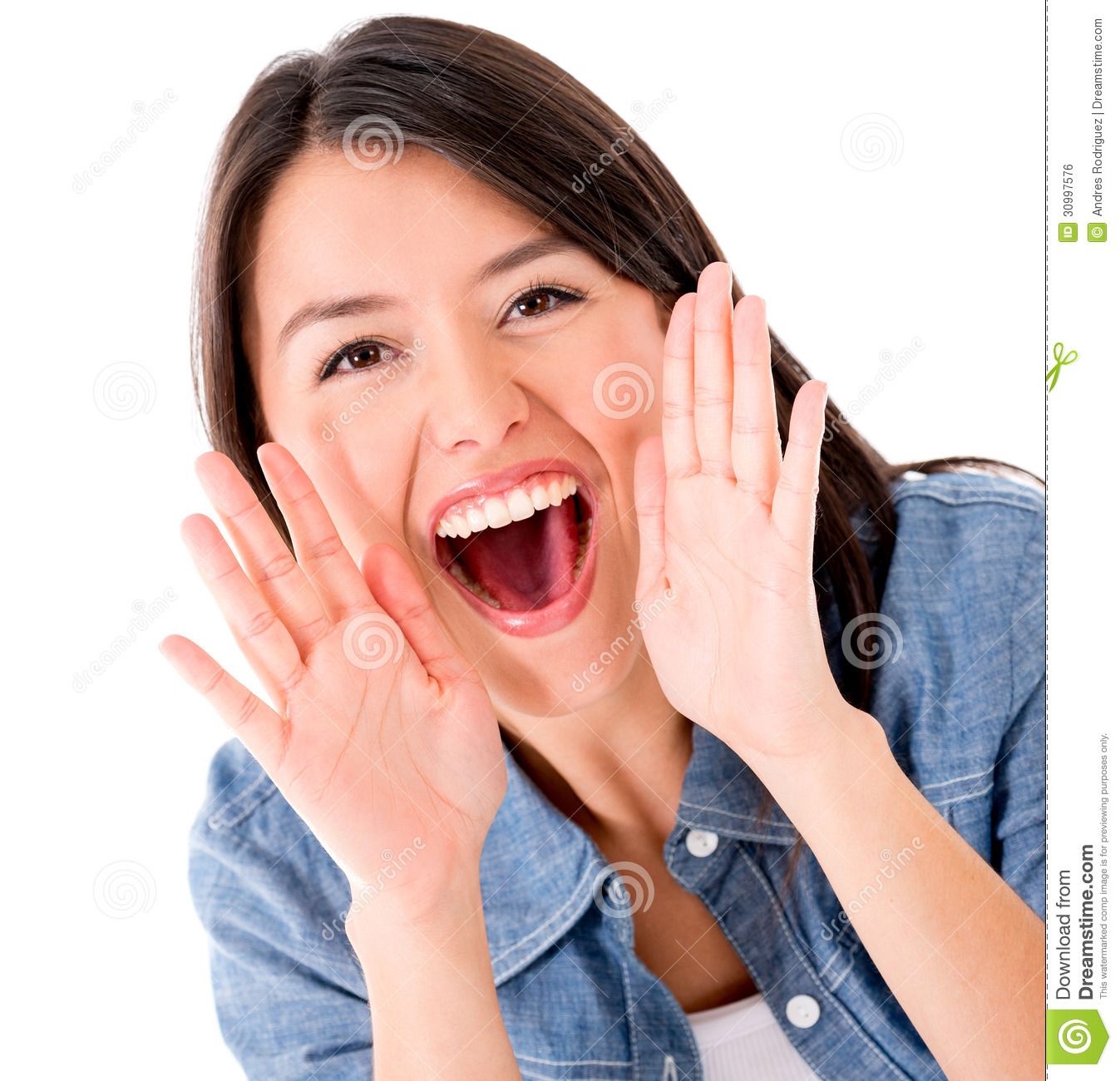 Woman Shouting Stock Photo Image Of Gorgeous Cheerful