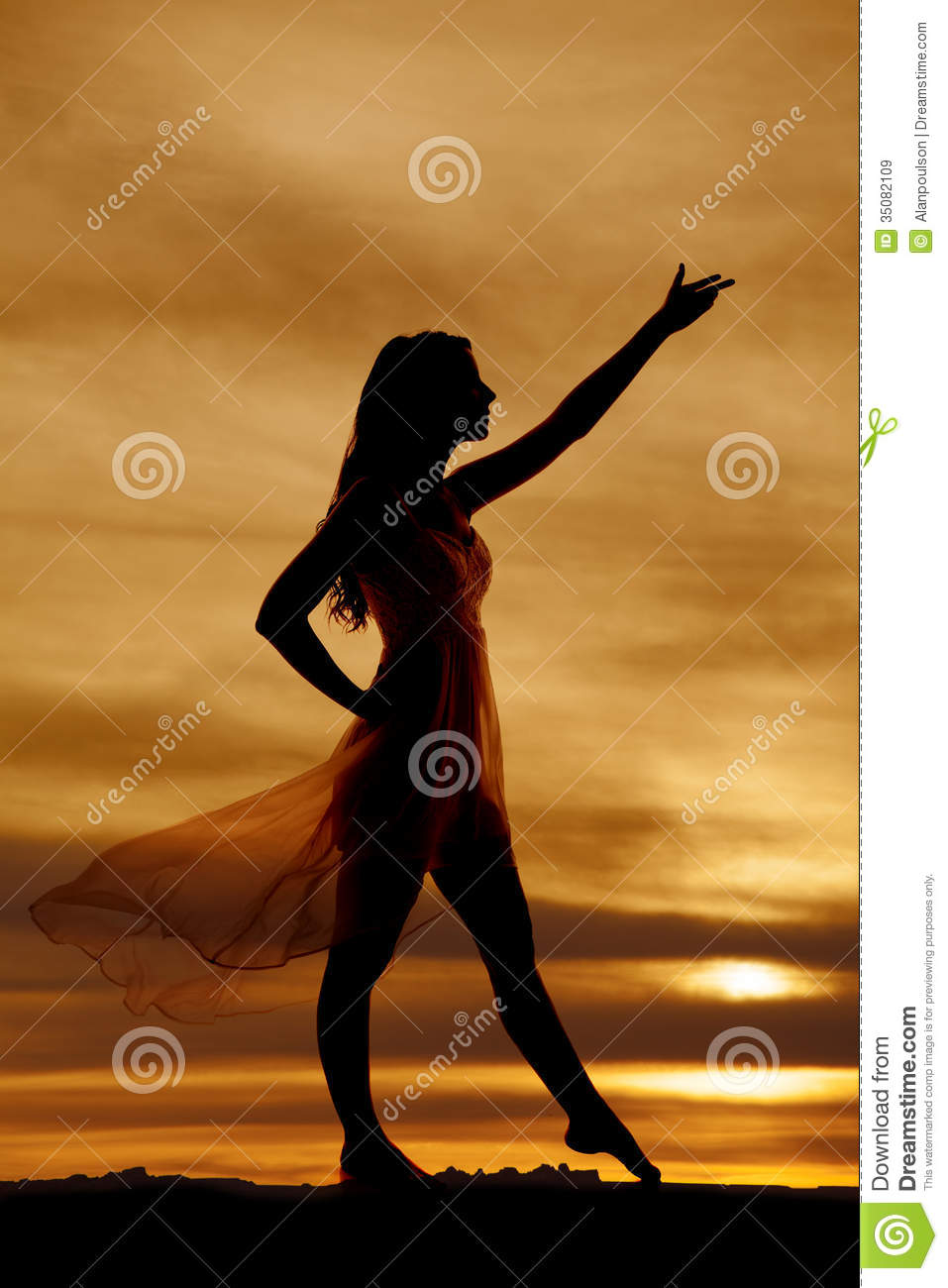Simple Dress Blowing Up Woman Stock Photo 53181367  Shutterstock