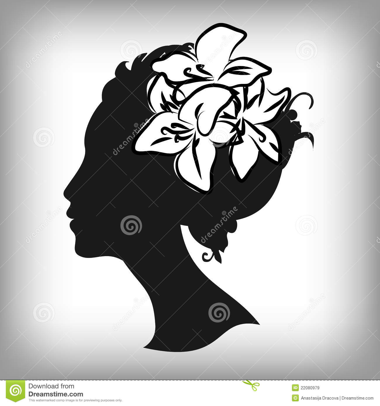 Woman Silhouette With ...
