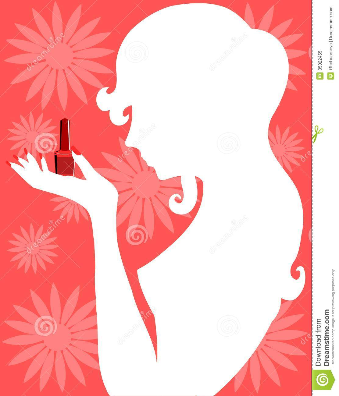 Woman Silhouette With Nail Polish Royalty Free Stock Photo Image 35022455