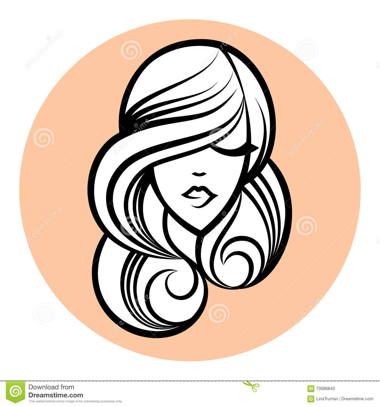 Woman silhouette women s face drawing abstract design concept