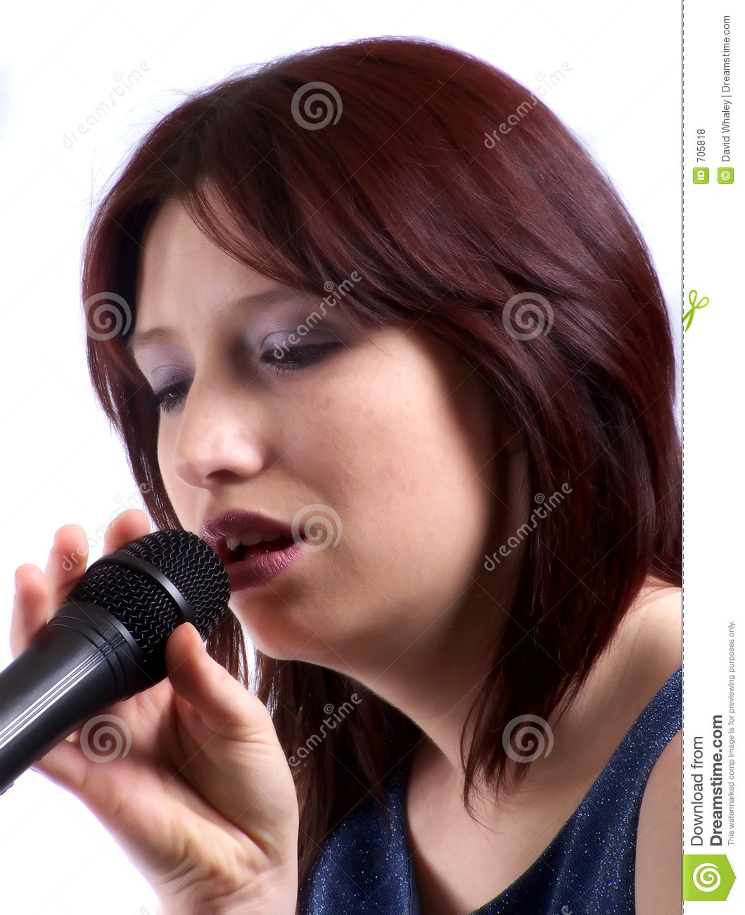 Woman Singing Stock Photo. Image Of Concepts, Glamour