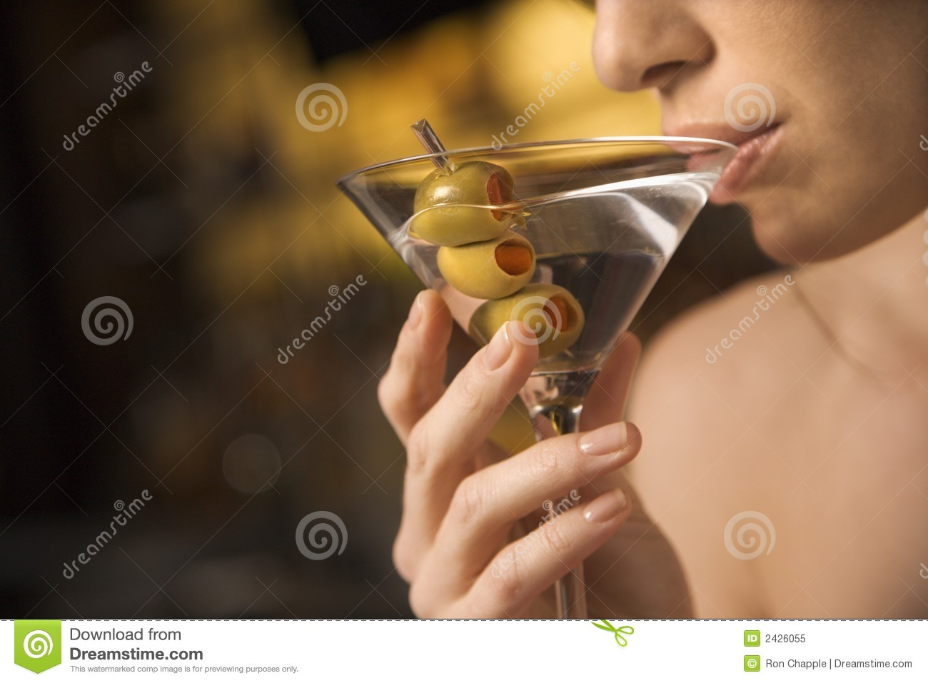Woman Drinking From Glass