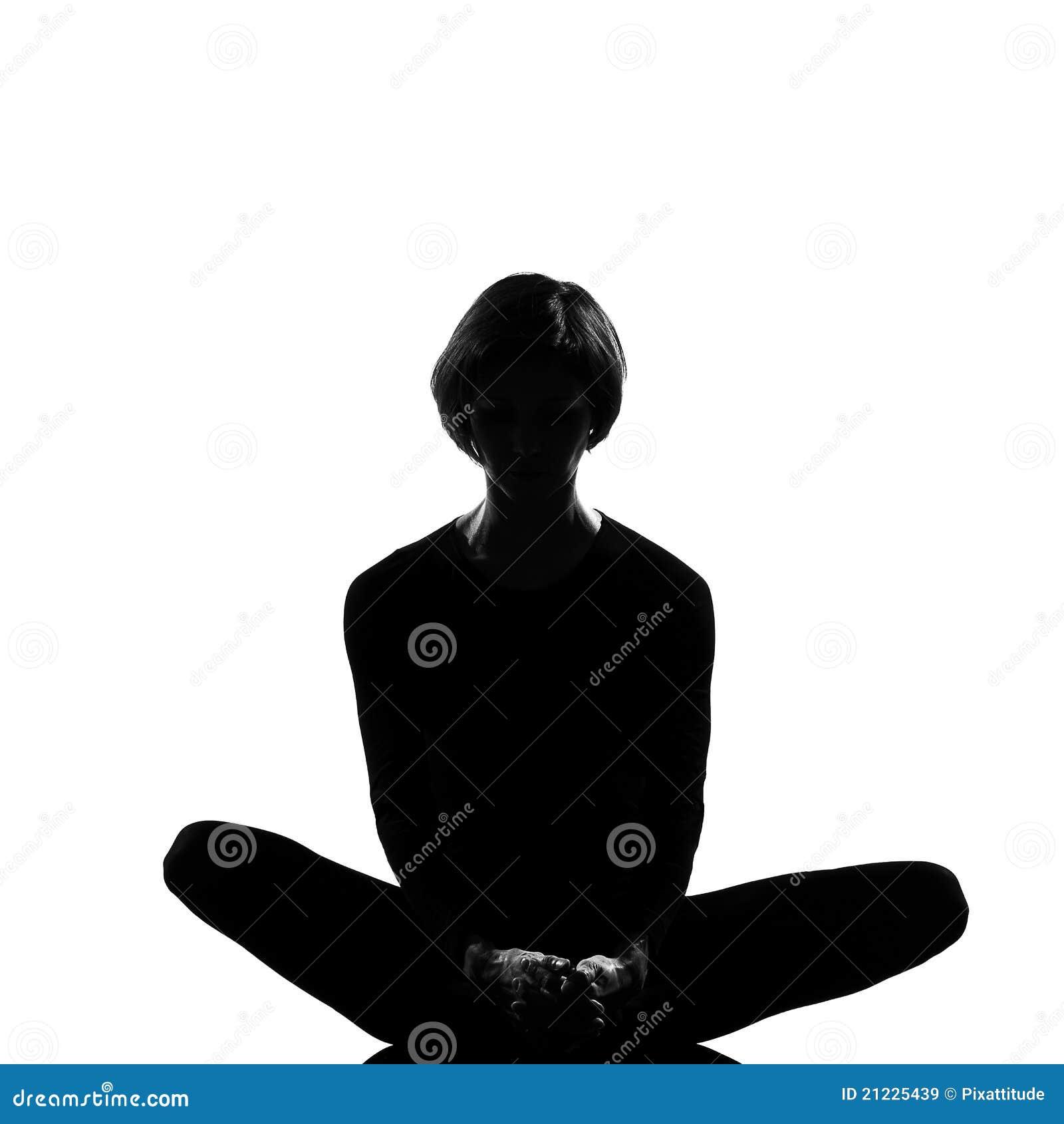 woman sit lotus posture yoga