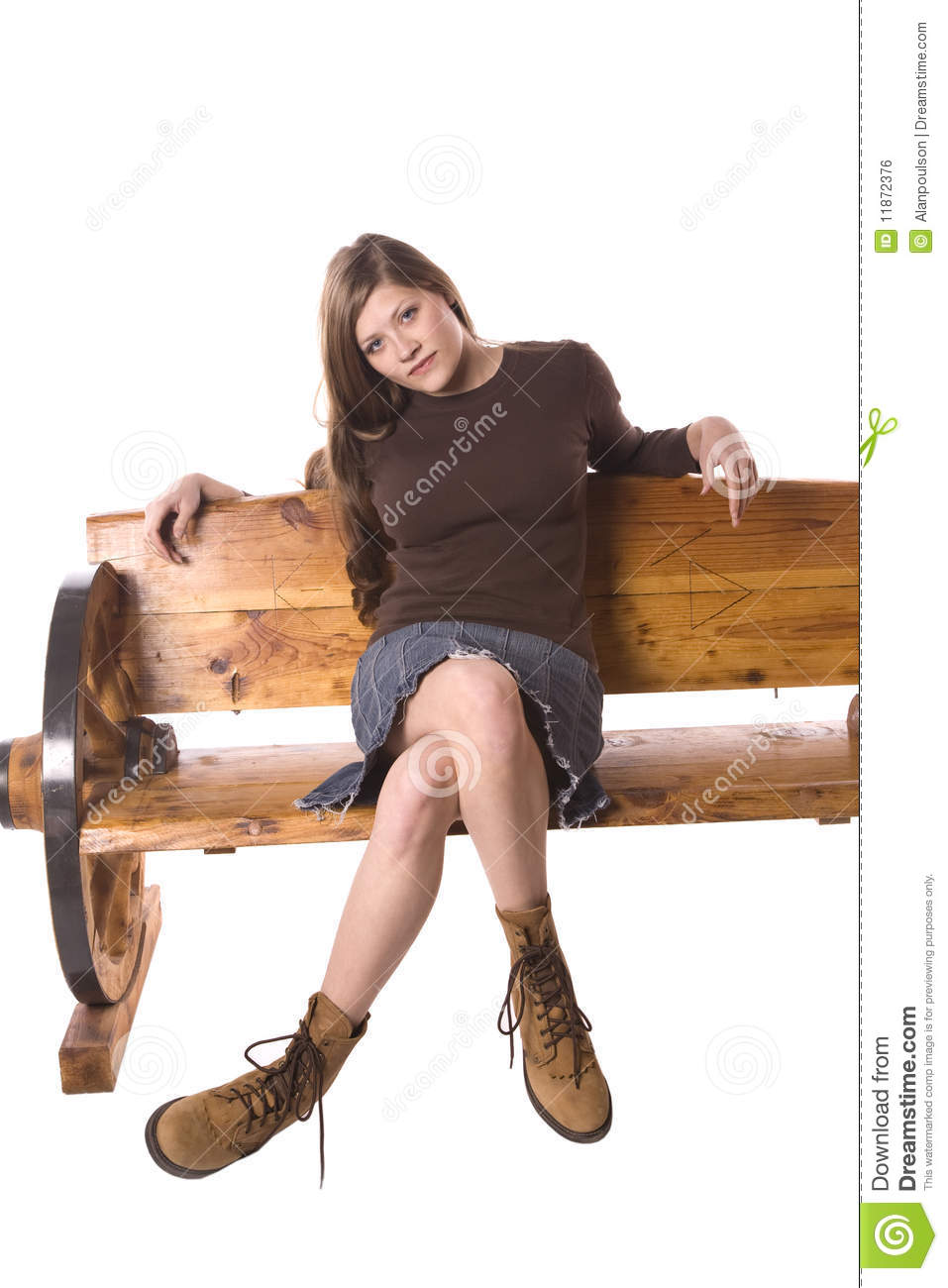 Cool Beautiful Young Woman Sitting On Stool Stock Photo  Image 22821740