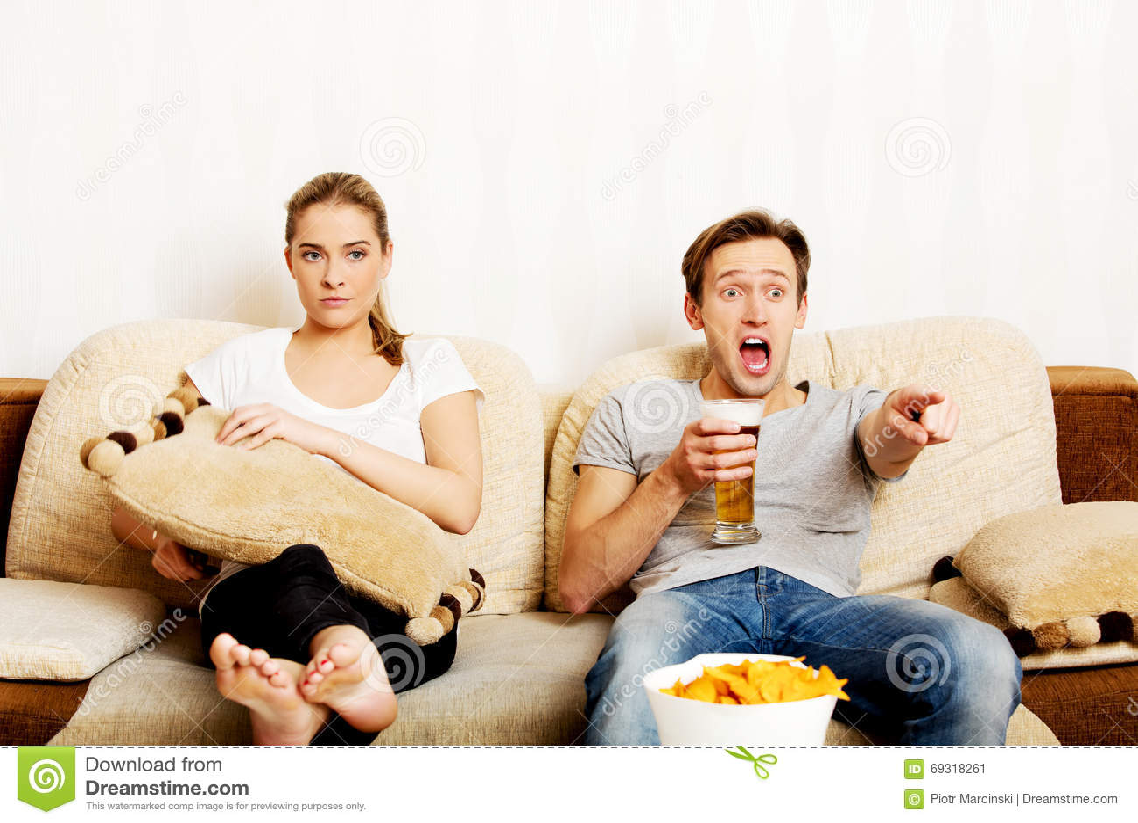 Women seeking women while man watches