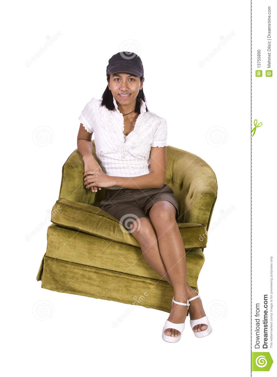 Woman Sitting On A Chair Stock Photo Image 13755890