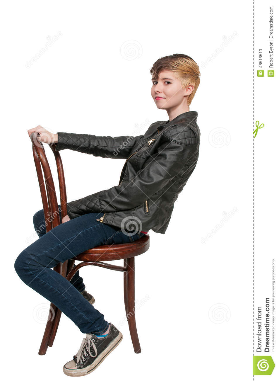 Woman Sitting In A Chair Stock Photo Image 48516513 : woman sitting chair cane back 48516513 from dreamstime.com size 953 x 1300 jpeg 94kB