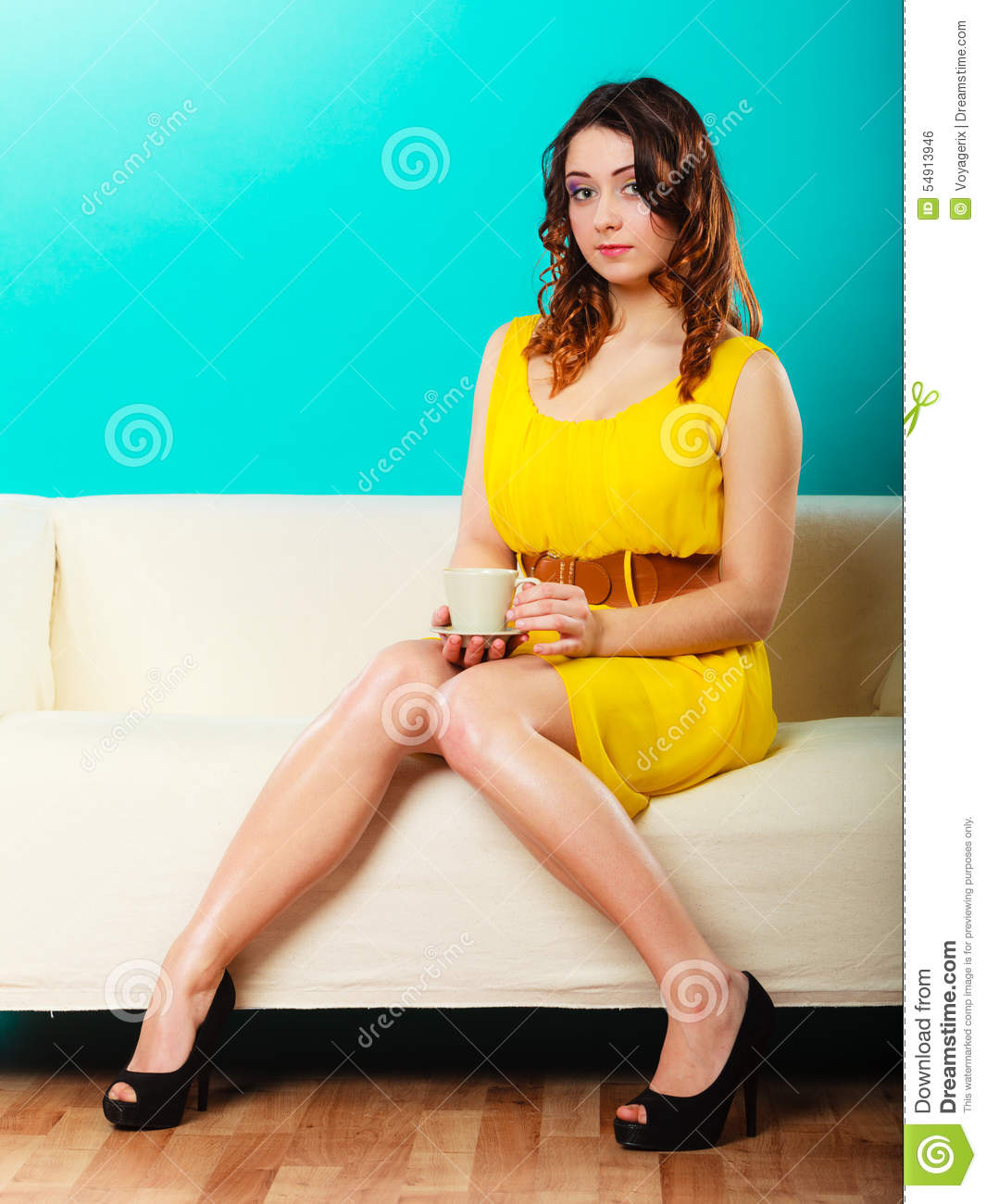 Hot girl sitting