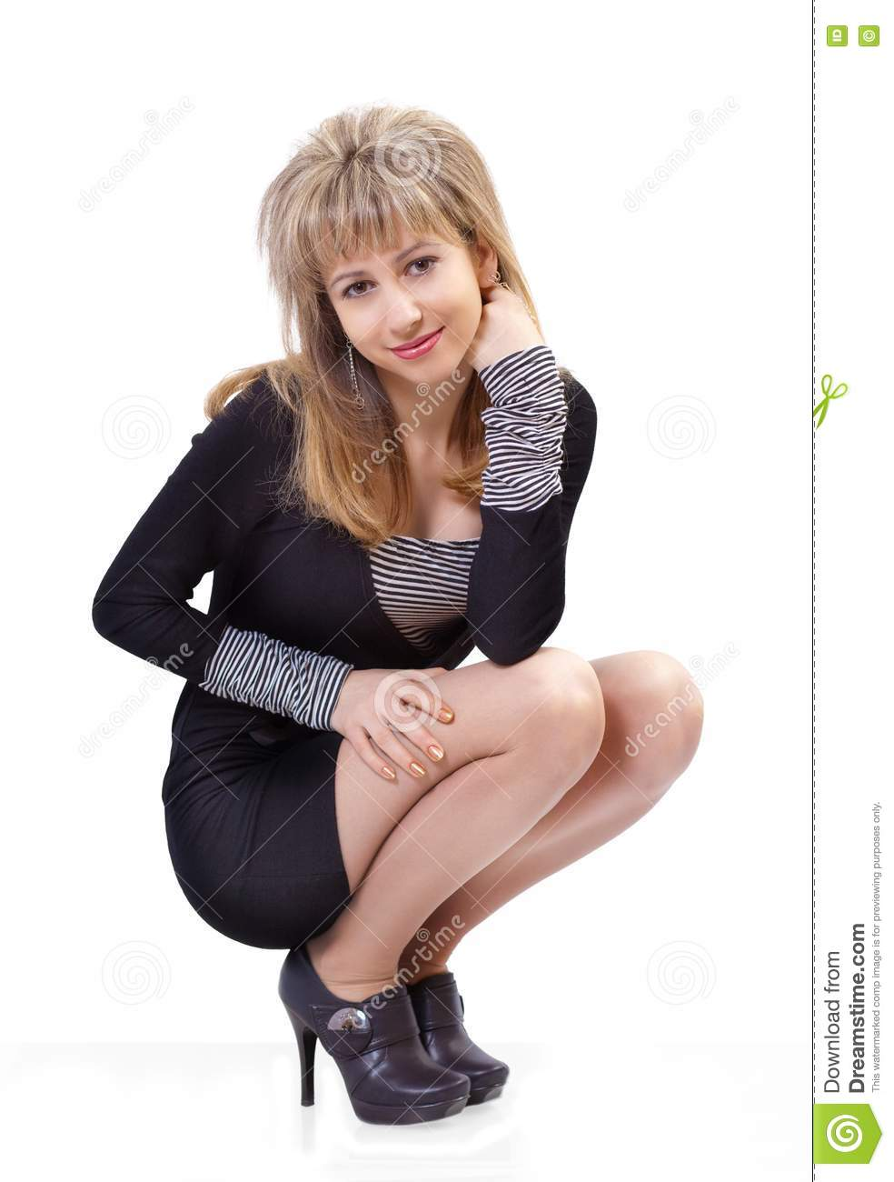 Woman sitting on the floor royalty free stock image for On the floor on the floor