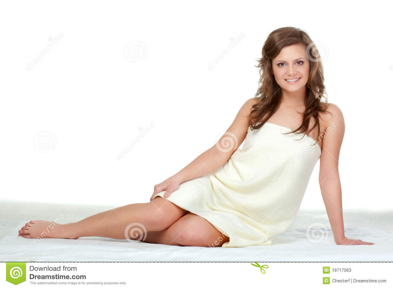Woman sitting on the floor stock photos image 19717063 for On the floor