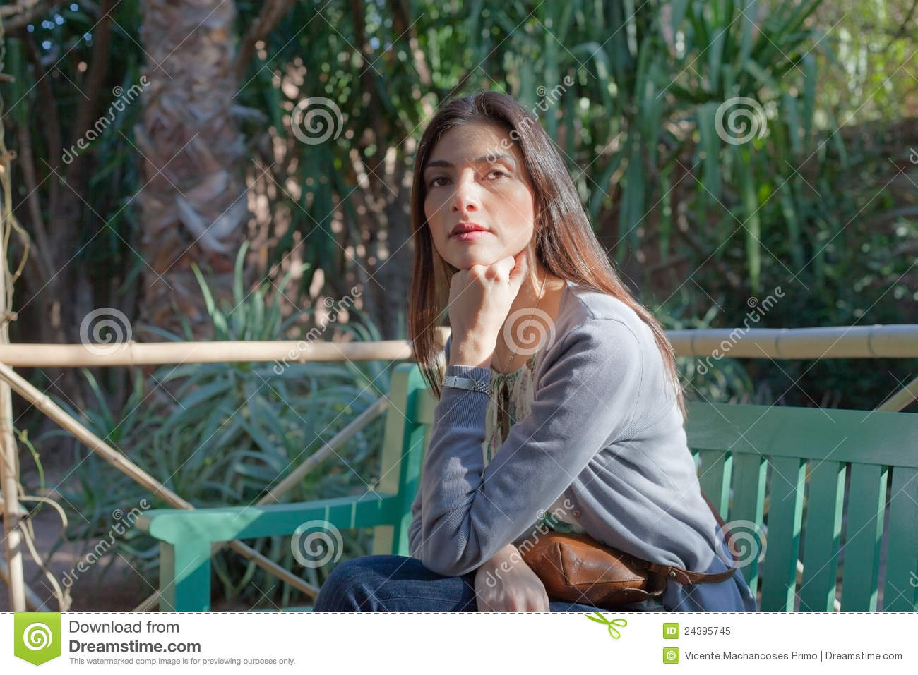 Woman sitting on a park bench stock illustration illustration of arts arab 24395745 for La fitness garden city park class schedule