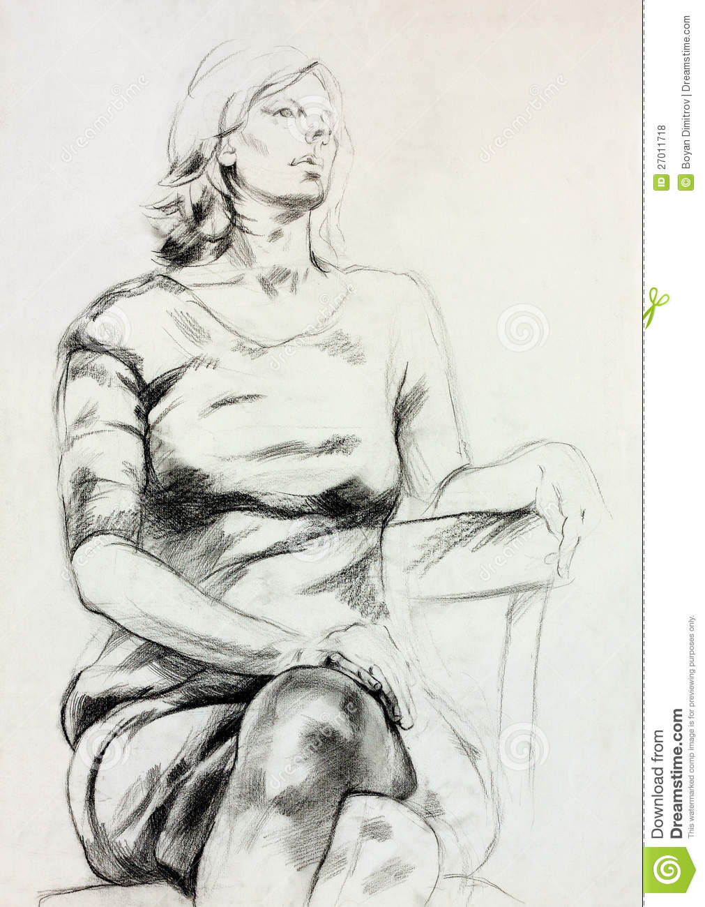 Woman sitting sketch