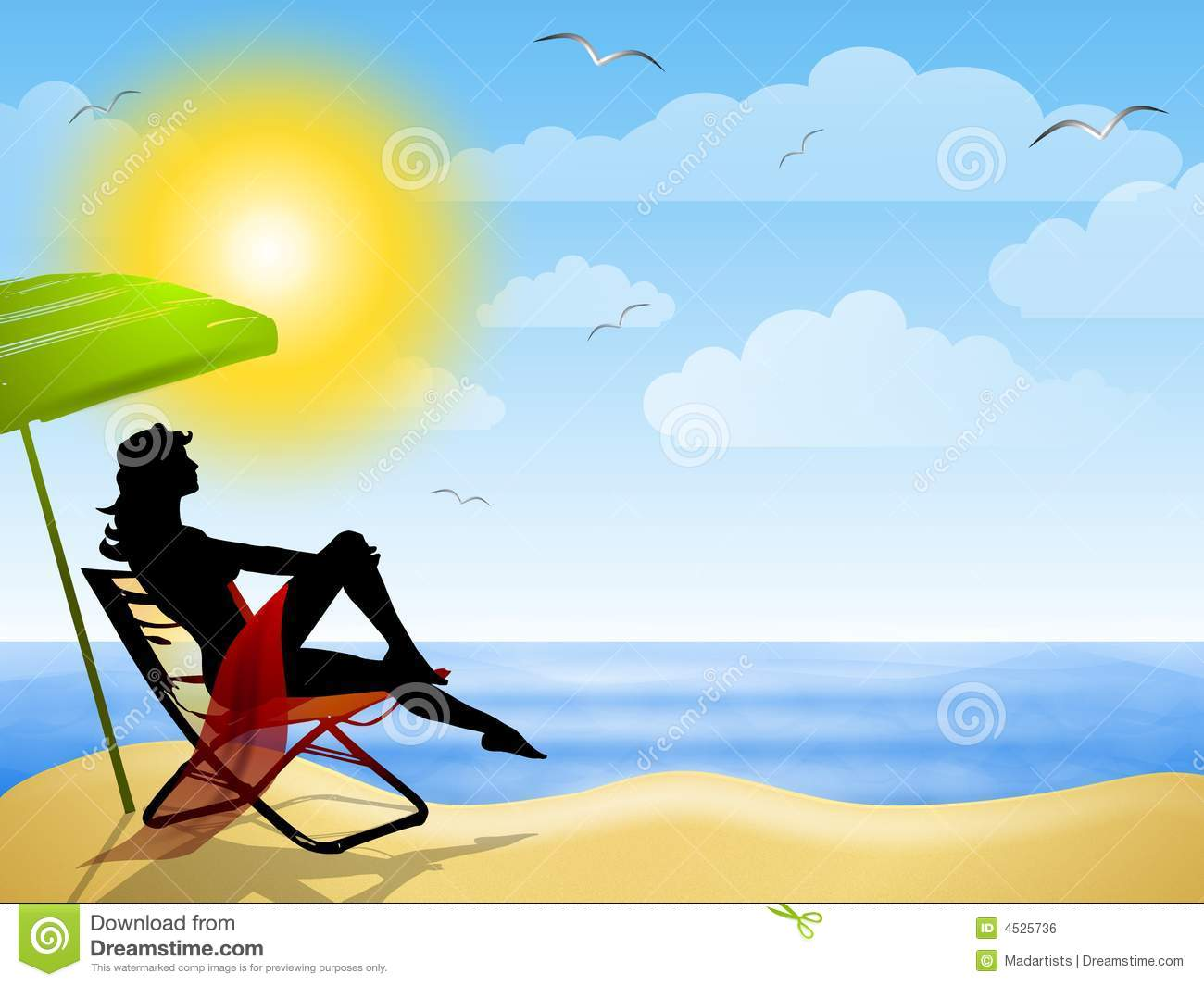 Woman Sitting On Summer Beach Royalty Free Stock Image ...