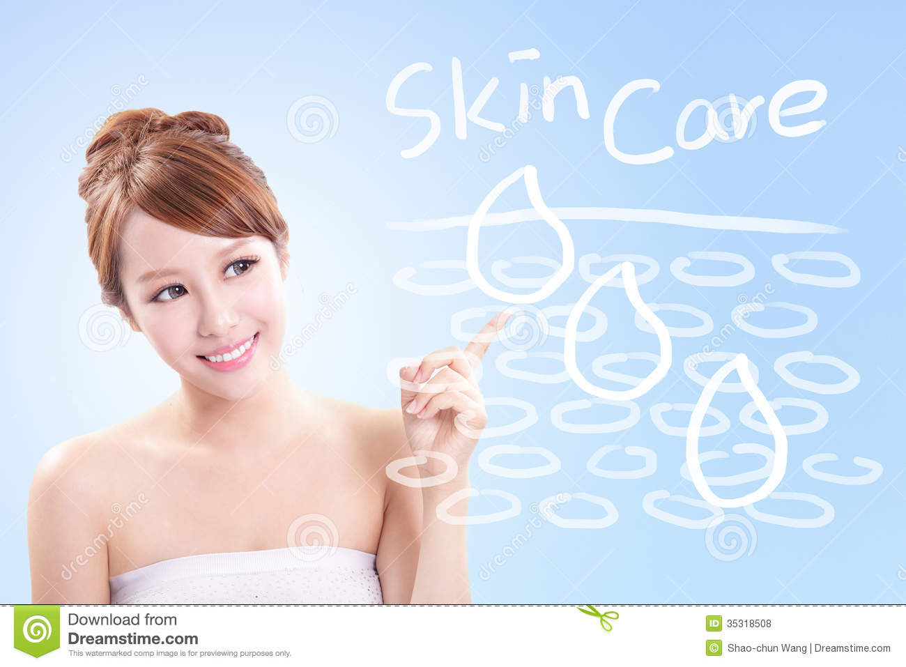 Woman Skin Care Concept Stock Photo Image Of Chinese 35318508