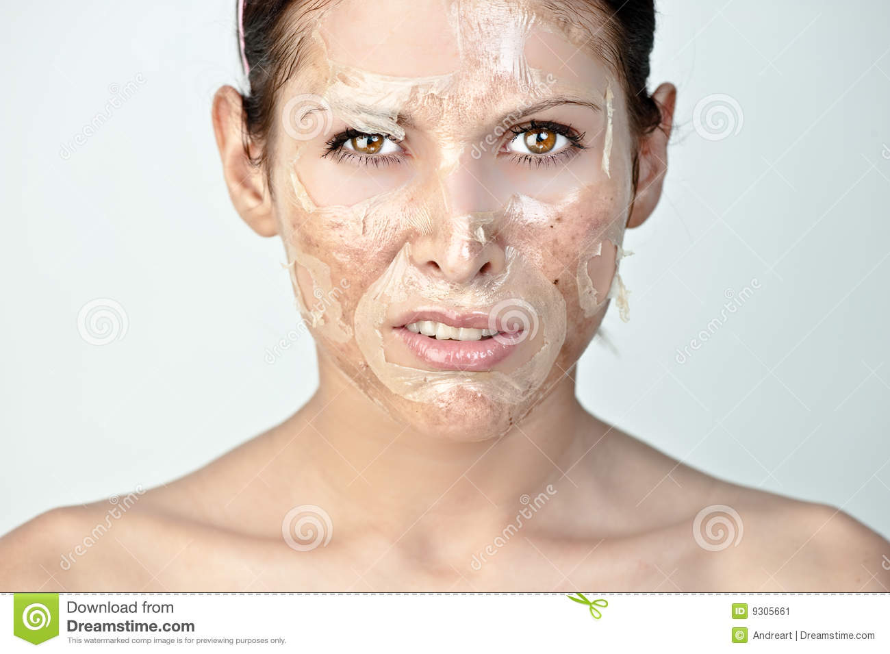 Facial skin peeling off