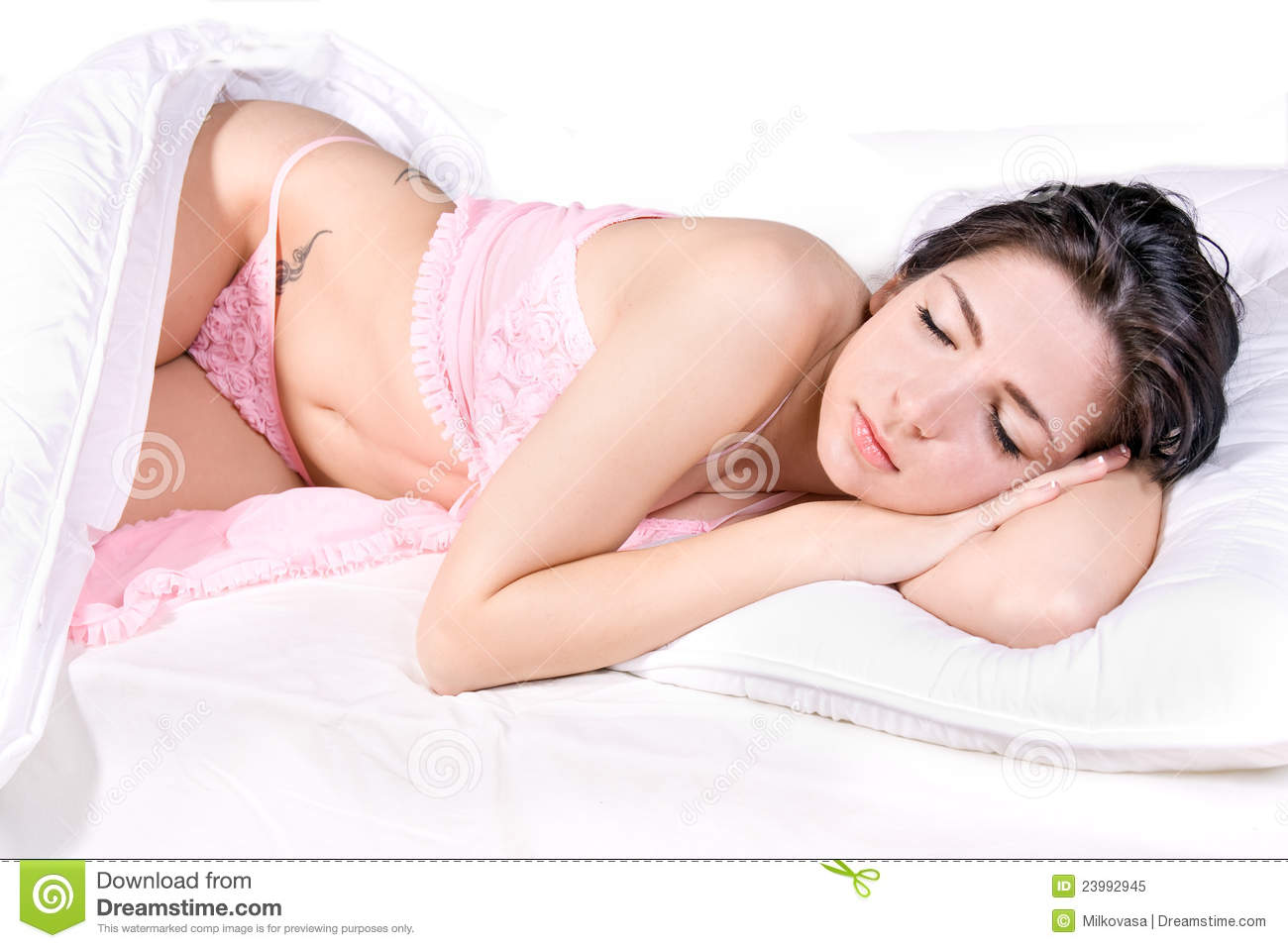 bed woman photo