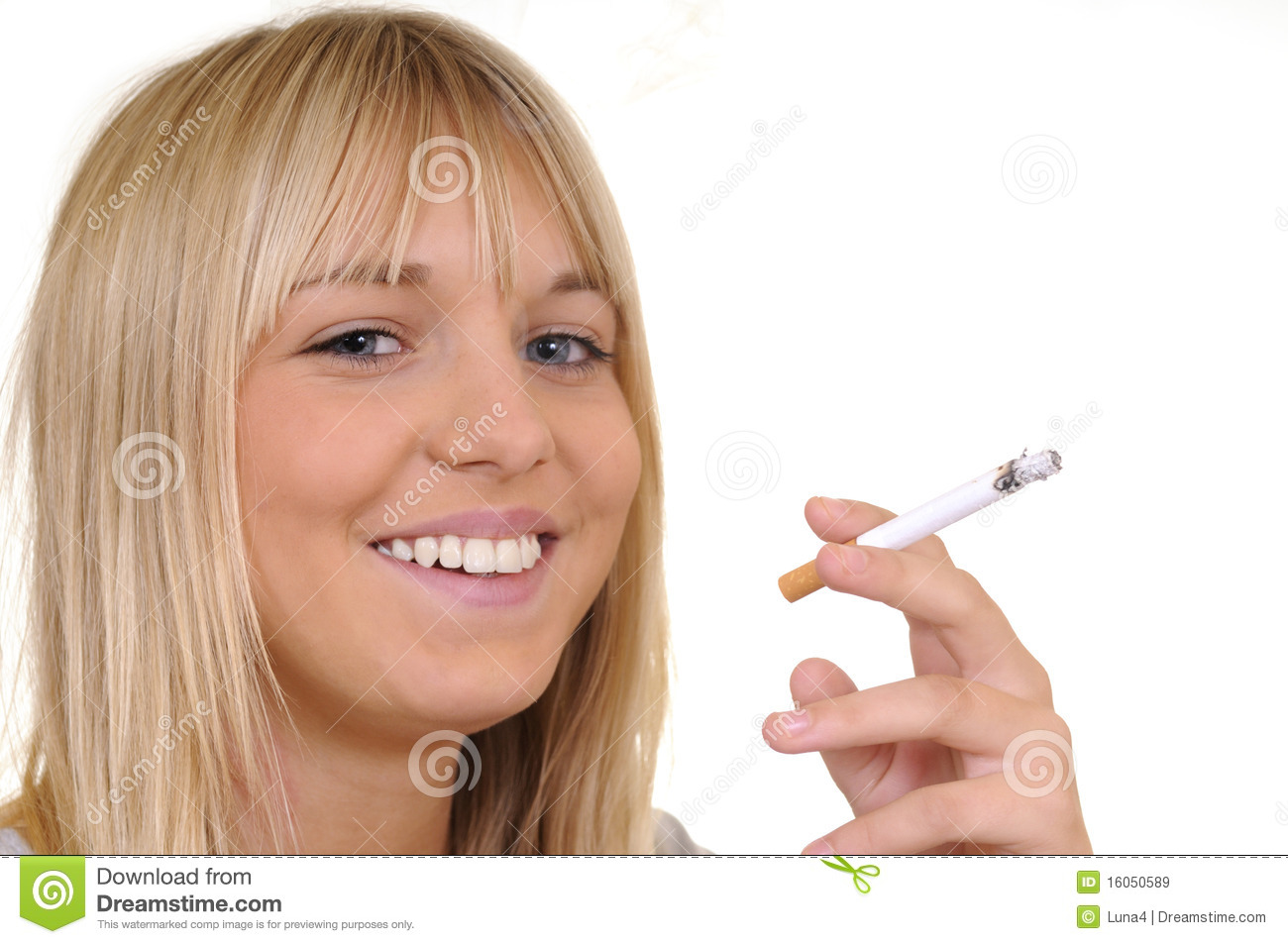 Woman smoking a cigarette royalty free stock images image 16050589
