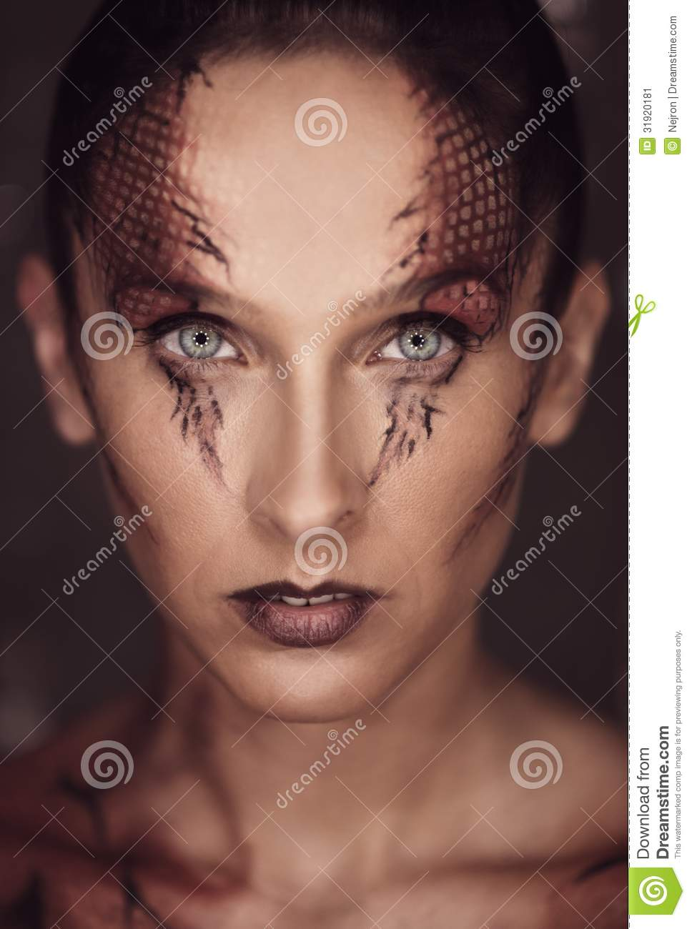 Woman With Snake Scales Stock Image Image 31920181