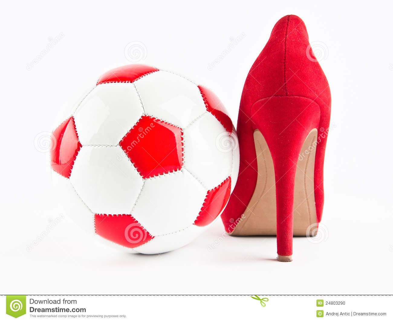 woman soccer stock photo