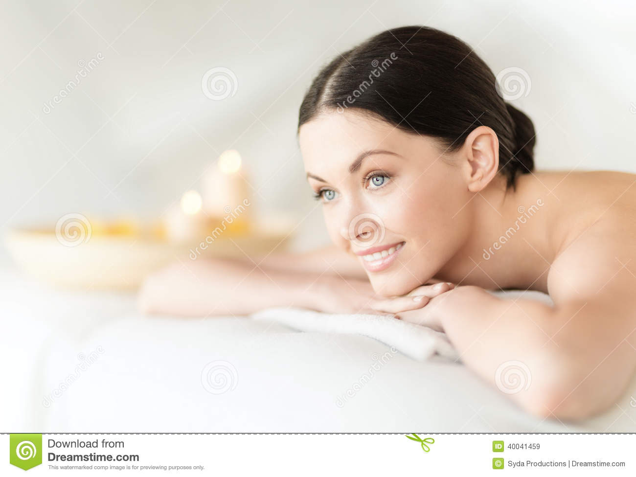 woman in spa stock photo image 40041459. Black Bedroom Furniture Sets. Home Design Ideas