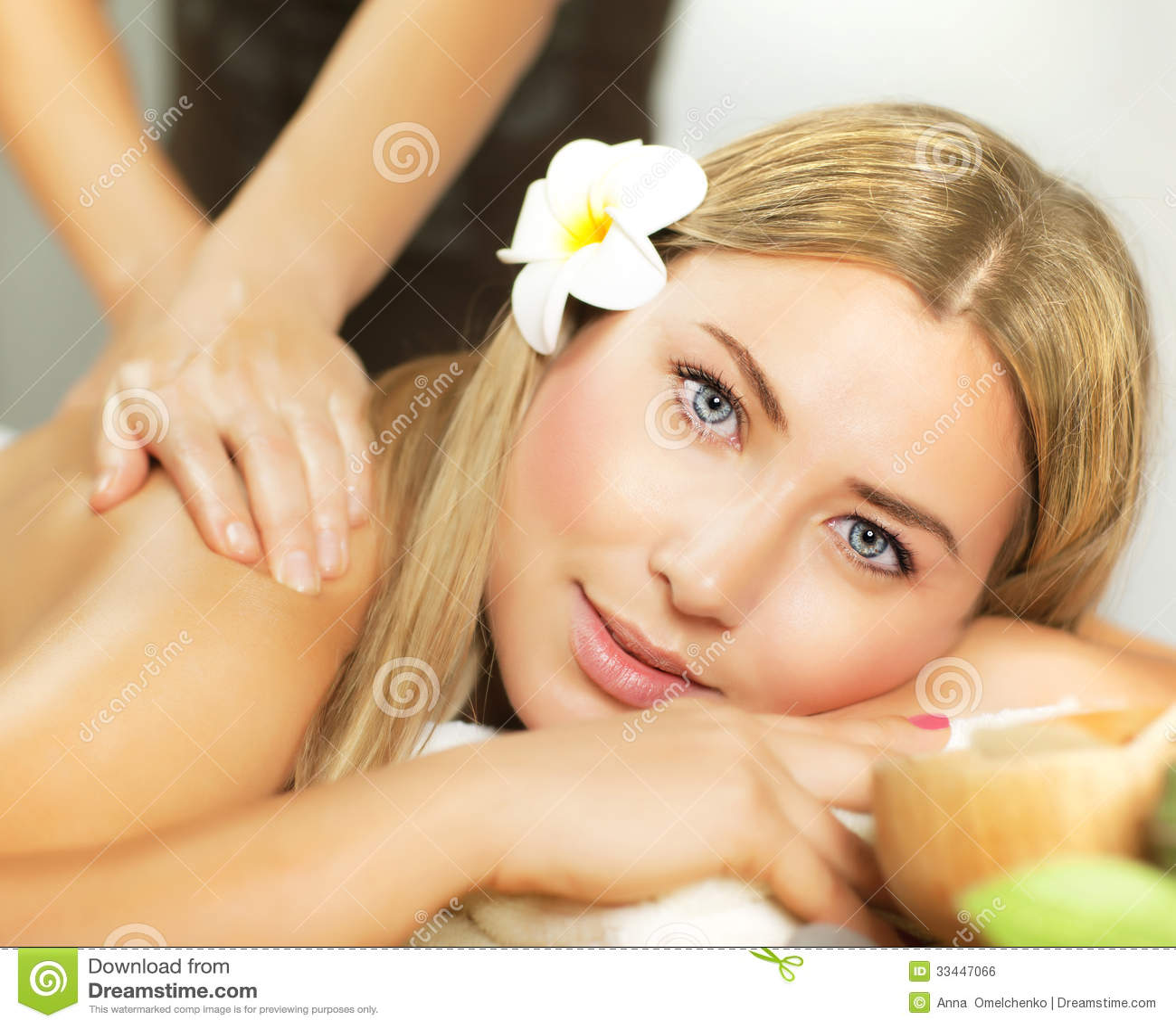 Woman At Spa Stock Photo. Image Of Frangipani, Beautiful