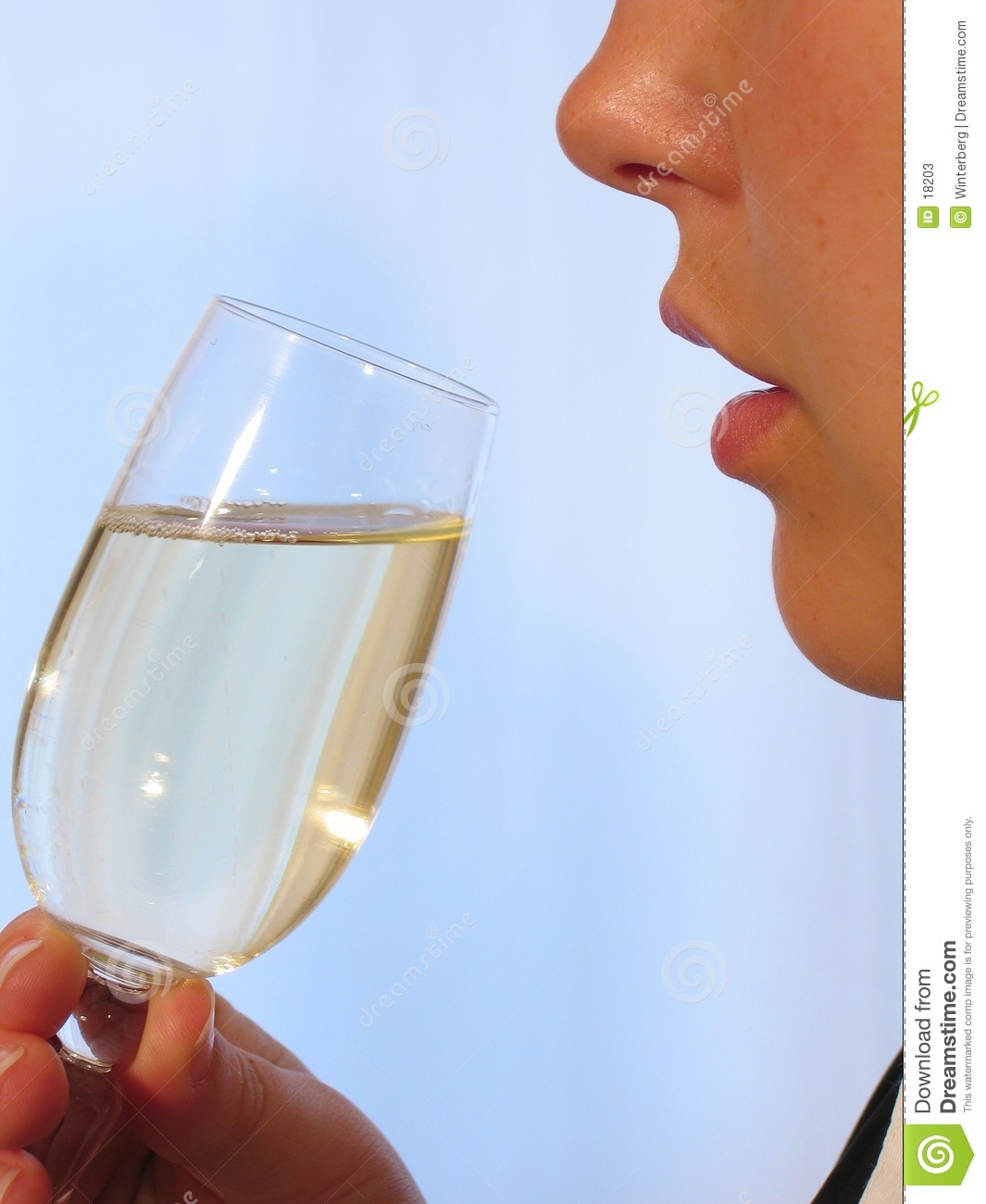 Woman with Sparkling Wine I